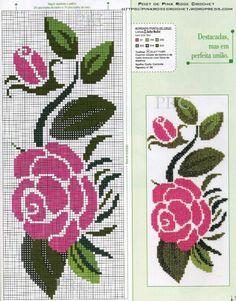 Les 420 meilleures images de Grilles points de croix Roses ...