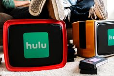 Retro televisions showing Hulu logo | free image by rawpixel.com