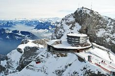 Mount Pilatus - Lucerne, Switzerland - This is exactly like when I was there - snow in the highlands, green in the valleys. Switzerland In Winter, Lucerne Switzerland, Visit Switzerland, Dream Vacations, Vacation Spots, Beautiful Places To Travel, Swiss Alps, Travel Memories, Travel Around The World