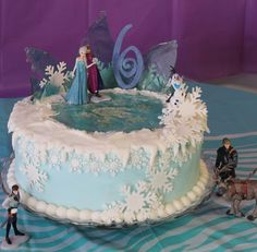Frozen cake at party site