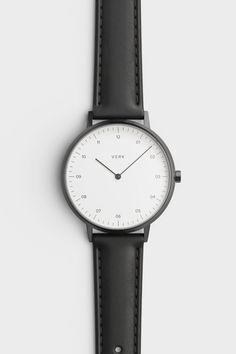 Gunmetal / Black leather watch by VERK - Scandinavian timekeeping, designed for perfection | Verkstore.com @Verkwatches