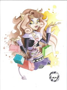 Monster High art print  Clawdeen Wolf by JAWart on Etsy, $12.00