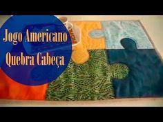 Ateliê Ana Cosentino: Jogo Americano Quebra Cabeça (Elisa Fumache) - YouTube