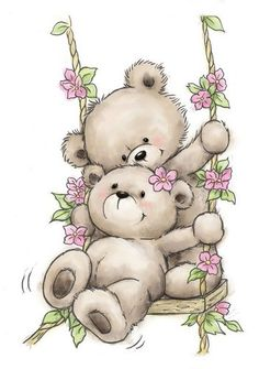 Motivstempel Clearstamp Bär Bären Schaukel Bears on Swing Wild Rose Studio Motif Stamp Clearstamp Bear Bear Swing Bears on Swing Wild Rose Studio Teddy Bear Quotes, Teddy Bear Images, Teddy Bear Pictures, Animal Drawings, Cute Drawings, Photo Ours, Art D'ours, Art Mignon, Blue Nose Friends