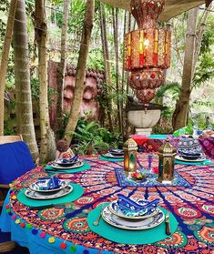 33 Gorgeous Moroccan Patio Decor Ideas To Beautify Your Outdoor Decor - Imagine if you will, a Moroccan oasis, where the entire goal is to be kept cool in the hot desert yet it reflects the opulence of the rich décor that . Bohemian House, Bohemian Patio, Boho Home, Bohemian Decor, Bohemian Style, Moroccan Decor Living Room, Deco Cool, Home Luxury, Gazebos