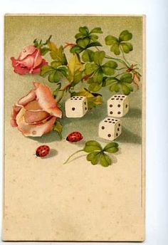 Pink ROSES w/ LADYBUG UnSign C. KLEIN