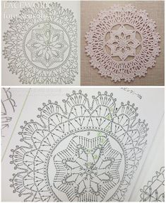 Crochet Doily Diagram Both Filet Crochet, Mandala Au Crochet, Crochet Doily Diagram, Crochet Circles, Crochet Doily Patterns, Crochet Round, Crochet Chart, Crochet Home, Thread Crochet
