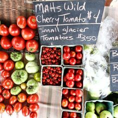 farmer's market tomatoes | @local_milk on instagram