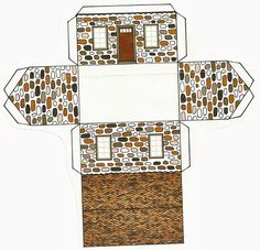 Diy Paper, Paper Art, Paper Crafts, Brick Paper, Free Paper Models, Coffee Cup Art, Shrink Art, Craft Images, Theme Noel