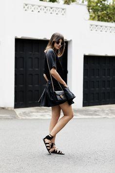 46db86666 The Easy Black Mini Dress. Looks Com SaiasEstilo FemininoFigurinos  PretosTotal BlackModa Primavera Verão303306Roupas CasuaisGuarda Roupa De  Inverno