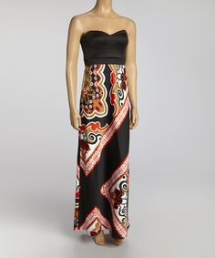 Another great find on #zulily! Cobalt & Black Strapless Maxi Dress - Women by Bailey Blue #zulilyfinds