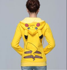 Winter Thick Pikachu Hoodie Pokemon Animal Ear hoody,