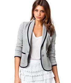 Brief Tailored Collar Black Trimmed Cotton Women Short Coats