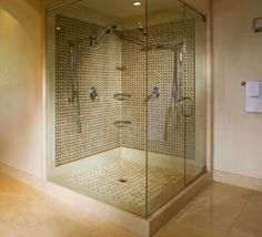 I love how big and spacious this shower area is.  My wife and I currently have a hard time getting through the morning with how small our shower is.  I would love to do some remodeling and make the shower bigger at the same time.