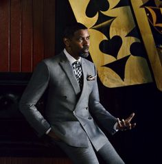 Denzel Washington wearing a double breasted suit