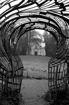 Cemetery gate, Ohlsdorf, Hamburg, Germany