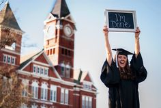 College Graduation picture at Auburn