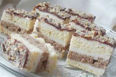 Krémové italské řezy | NejRecept.cz Cake Cookies, Cupcake Cakes, Cream Cheese Flan, Croation Recipes, Croatian Cuisine, Cookie Recipes, Dessert Recipes, Kolaci I Torte, Torte Recepti