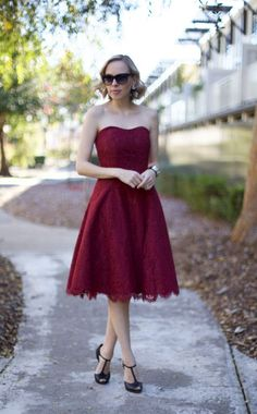 """Can we say holiday perfection in a dress? - Bust (small) - 15"""" - Length (small) - 33"""" - Self 50% cotton, 32% nylon, 18% rayon - Contrast and Lining 100% polyester - Dry clean only - By Soprano"""