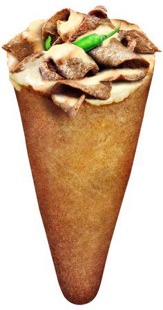 kebab Pizza Cone