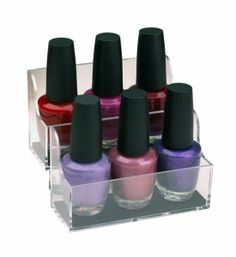 These Adhesive Nail Polish Organizers are a great way to store your nail polish. Use the nail polish bottle holders to easily and conveniently store or display your nail polish. The nail polish display racks will easily attach to any hard flat surface like tile granite steel or glass using a non-residue adhesive that c