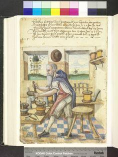 1577. wire worker with draw plates   Die Hausbücher der Nürnberger Zwölfbrüderstiftungen
