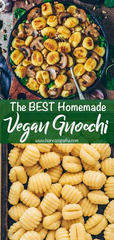 Homemade Gnocchi Appetizer Recipes, Appetizers, Gnocchi, Going Vegan, Recipe Box, My Recipes, Entrees, Seafood, Side Dishes
