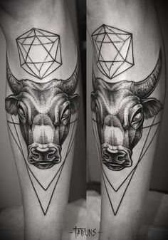 geometrical bull tattoo - Google Search
