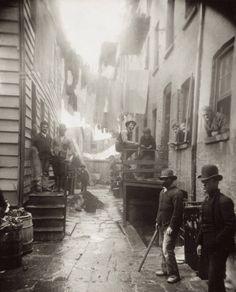 Mulberry Street, New York City, 1888 -Jacob Riis.