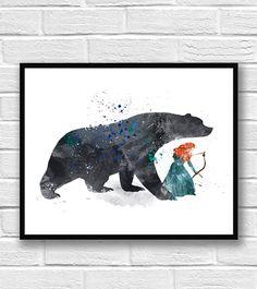 Kunstdruck/Poster Disney Prinzessin Merida mutig Kunst Brave