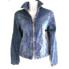 Chaqueta Jeans Con Cierre Mujer Talla Xs - $ 8.900 en MercadoLibre