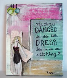 Dancer - Mixed Media Collage by WhiteLyme on Etsy, $45.00
