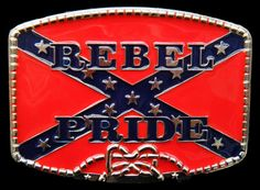 7d6e9336a890 CONFEDERATE SOUTHERN REBEL PRIDE FLAG CSA BIG BELT BUCKLE BOUCLE DE CEINTURE
