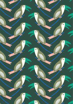 my toucan pattern for monoprix home http://www.florelarrazet.com