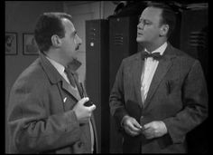 Reginald Marsh and Robert Urquhart in 'The Trouble With Auntie' from the second series of The Plane Makers. ATV, 1963
