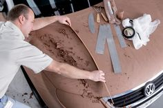 VW Eos Clay modeling