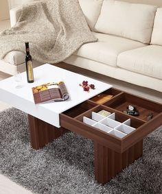 Sliding-Top Coffee Table