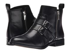 MICHAEL Michael Kors Finley Ankle Boot Black Distressed Vachetta - 6pm.com