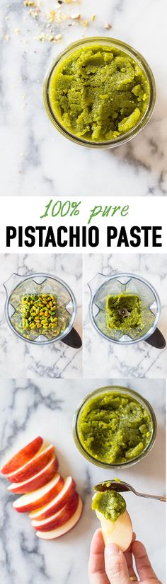 Want to know how to make 100% pure Pistachio Paste? It's super easy and you get some active meditation done while you make it ;) via @greenhealthycoo