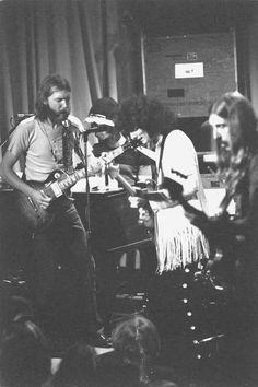 Whisky a Go Go, West Hollywood, CA -Oct. 2, 1971. Duane, Berry playing with Larry Reinhardt (Rhino).  Also, Duane's last trip to the West Coast. Greg Papazian photo.