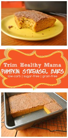 A delicious cinnamon streusel topped pumpkin coffeecake, perfect for weekend breakfasts, brunches with friends, or a mid-afternoon treat with a cup of coffee. Sugar-free, grain-free, and low-carb. THM (S) | MargeauxVittoria.com