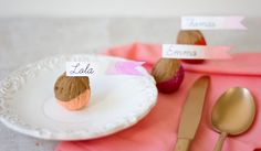 Add a little color and creativity to your Thanksgiving dinner table this year. Dipping walnuts a fall staple, in bright colors makes the perfect base for Turkey Day place cards. They're quick and simple to make, and help your guests easily find their seat so they can dig right into that wonderful feast you've prepared.