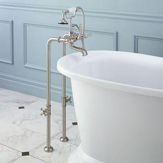 Freestanding+Telephone+Tub+Faucet,+Supplies+&+Valves+-+Lever+Handles