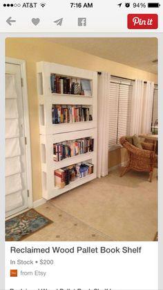 Bookshelf pallets