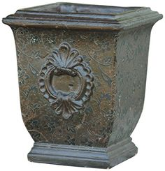 Your Hearts Delight Embossed Design Pottery Planter, 6-1/4-Inch Square by 8-Inch, Brown Your Heart's Delight http://www.amazon.com/dp/B00KU4RTJ6/ref=cm_sw_r_pi_dp_TD39vb07TPVFK