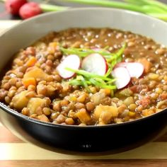 Vegan Lentil Recipes, Vegan Dinner Recipes, Vegan Foods, Vegan Dishes, Soup Recipes, Whole Food Recipes, Cooking Recipes, Healthy Recipes, Garbanzo Bean Recipes