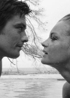 Alain Delon & Romy Schneider la piscine