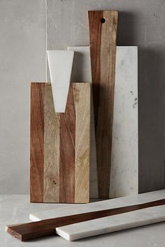 ANTHROPOLOGIE || Iona Cheese Board || Hand-cut white marble with cesium and mango woods