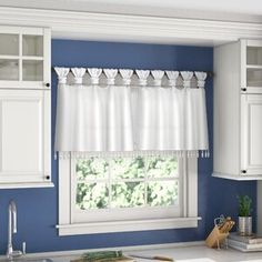 New Campbelltown 50 Window Valance by Charlton Home. Home Decor Furniture from top store Tab Top Curtains, Long Curtains, Tier Curtains, Rod Pocket Curtains, Grommet Curtains, Valance Curtains, Window Valances, Elegant Curtains, Curtain Rod Hardware