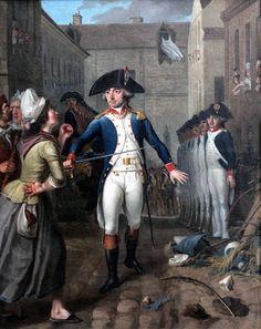 """""""Garde national protégeant une cargaison de sucre pendant les émeutes parisiennes de janvier 1791"""", Bizard"""